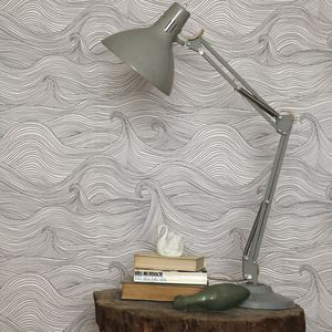 Amazing Seascape Wallpaper (Winter) by Abigail Edwards has the lovely haunting quality of Edward Gorey.