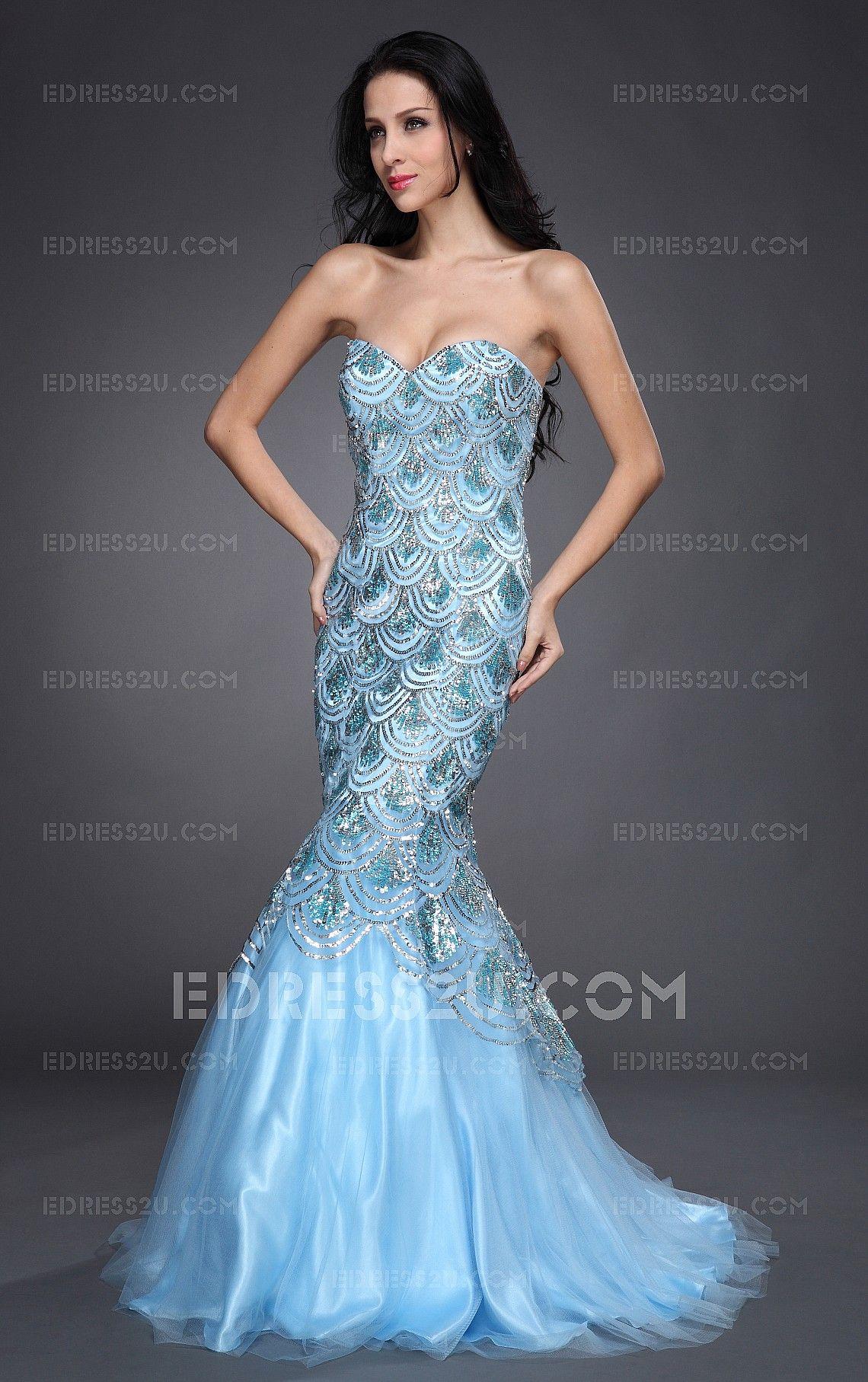 Scale Mermaid Sweetheart Floor-length Dress | Prom | Pinterest ...