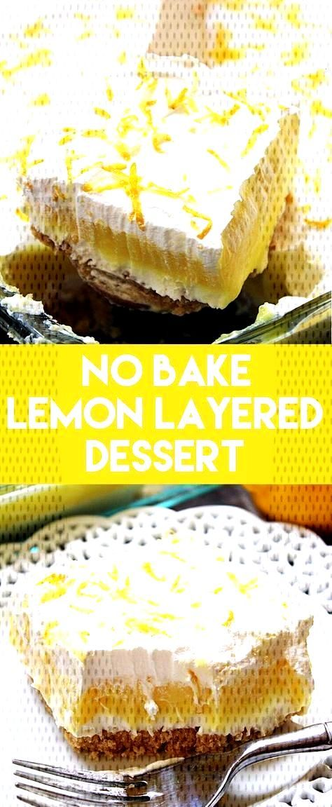 Golden Oreos, cheesecake, lemon pudding, and whipped topping make this No Bake Lemon Layered Desser