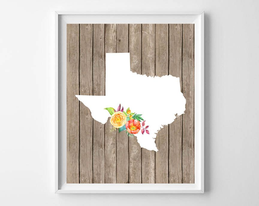 Long Distance Gifts {Free Printable State Art}