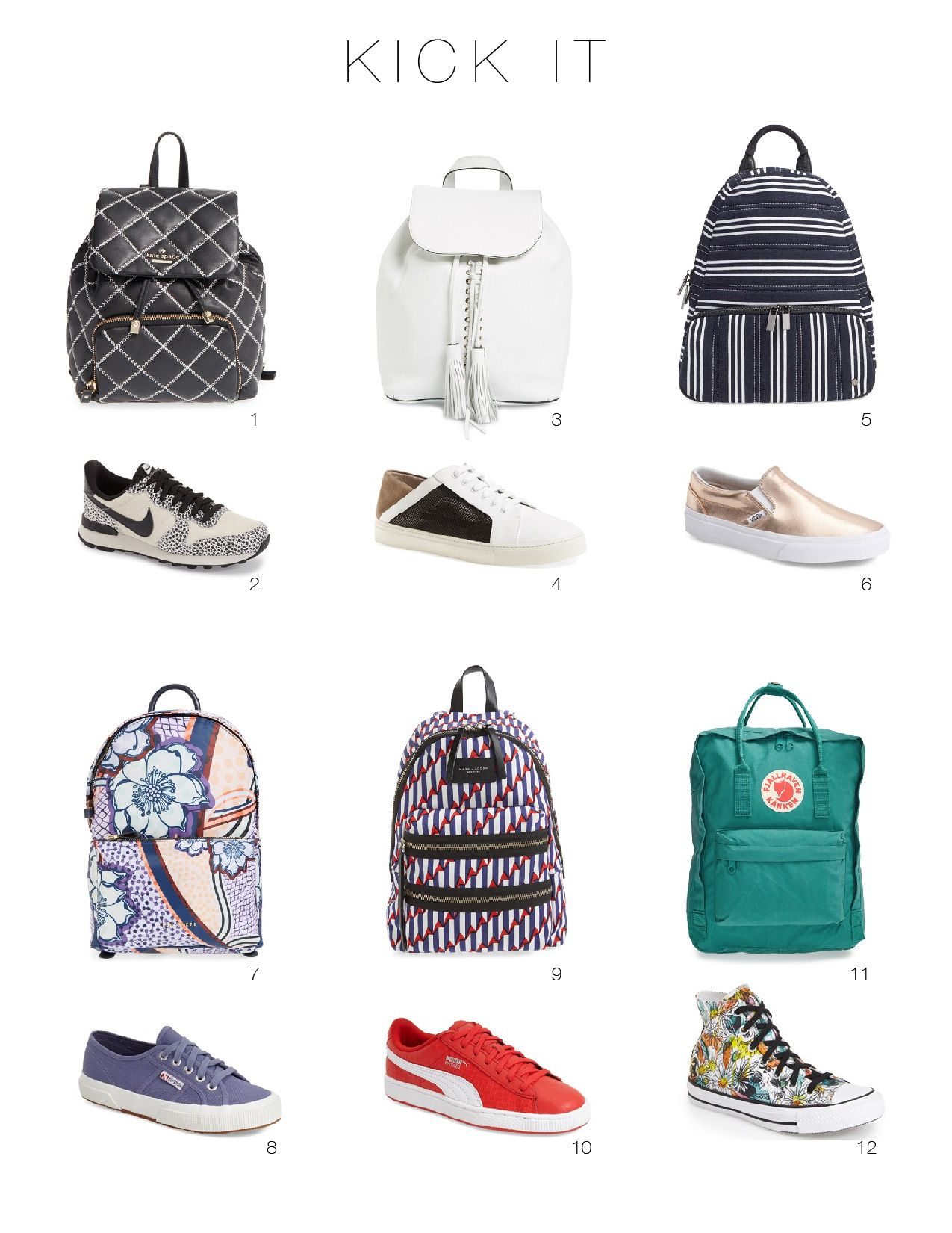 Spring Backpacks and Cool Shoes: They'll Update Even Your Most Casual Outfits