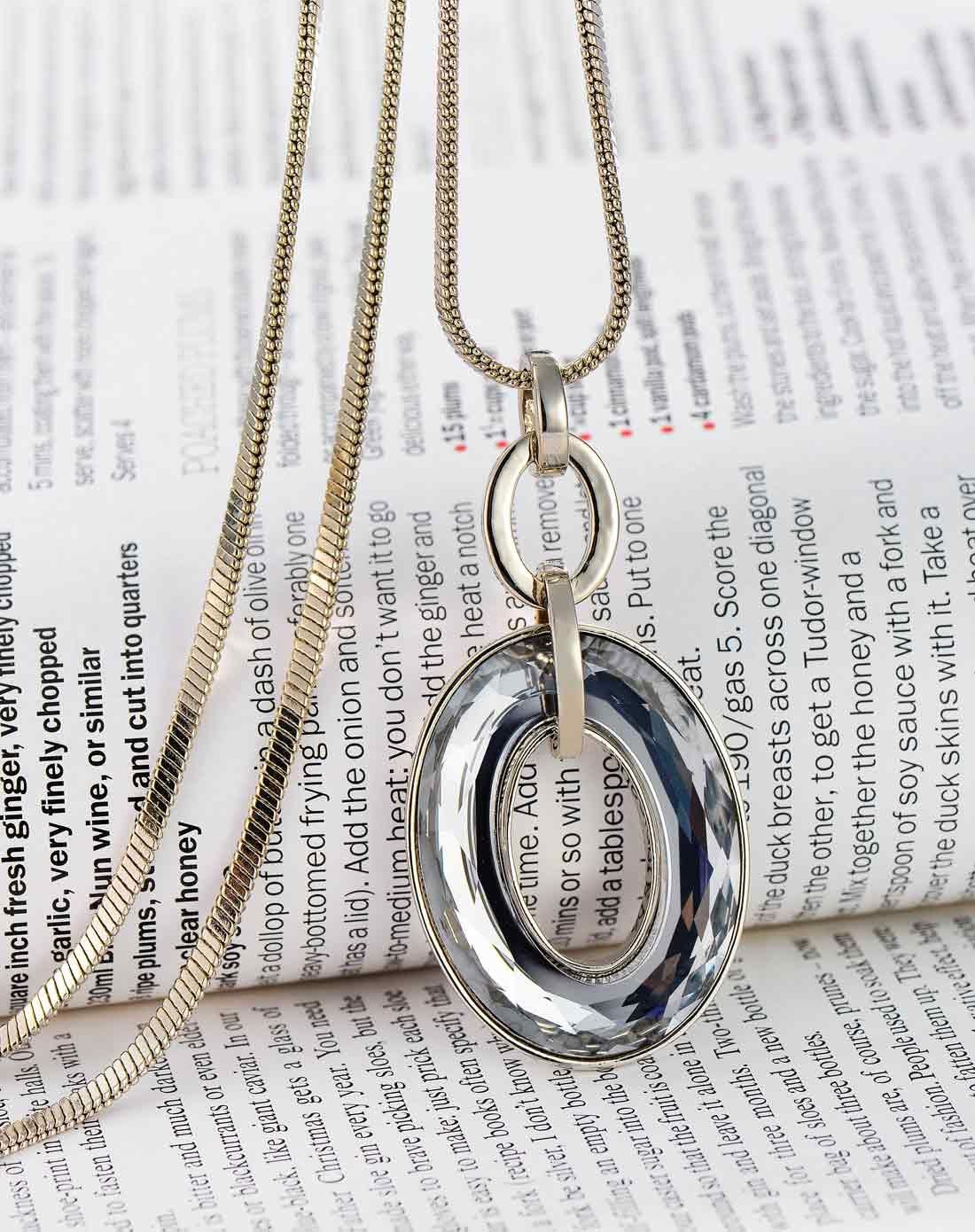 Adorewe vipme necklaces d charm ring long circle chain pendant