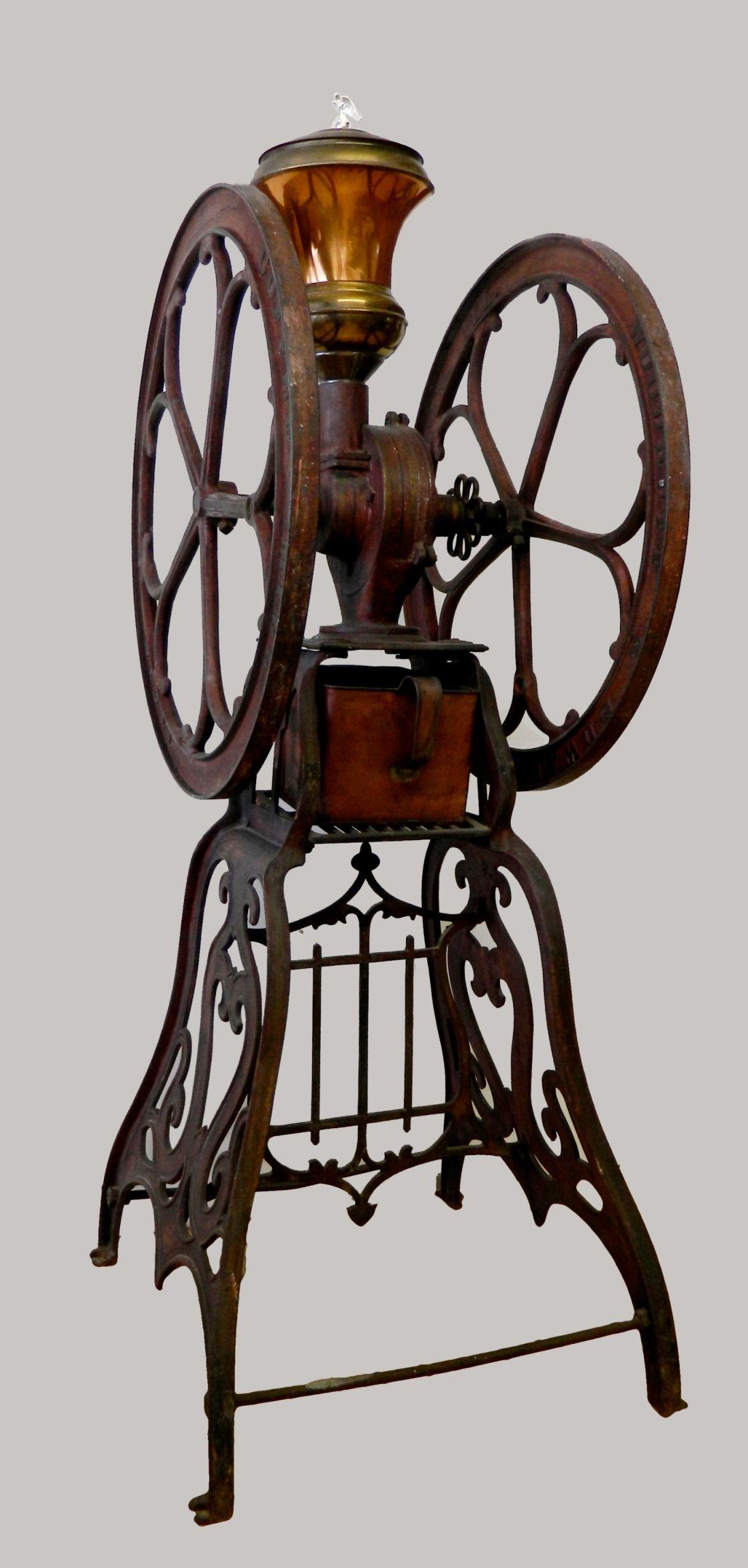 Elgin National #10 floor model cast iron coffee mill ...