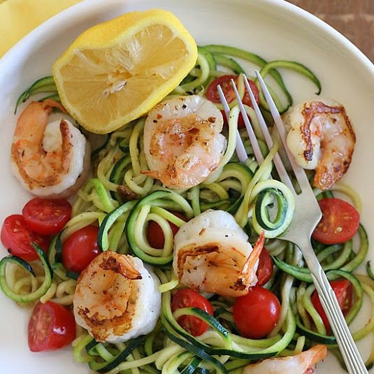 Spicy Shirmp Zucchini Noodles