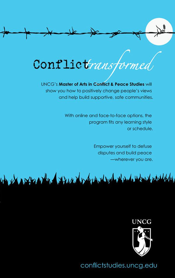 Conflict and Peace Studies Campaign on Behance