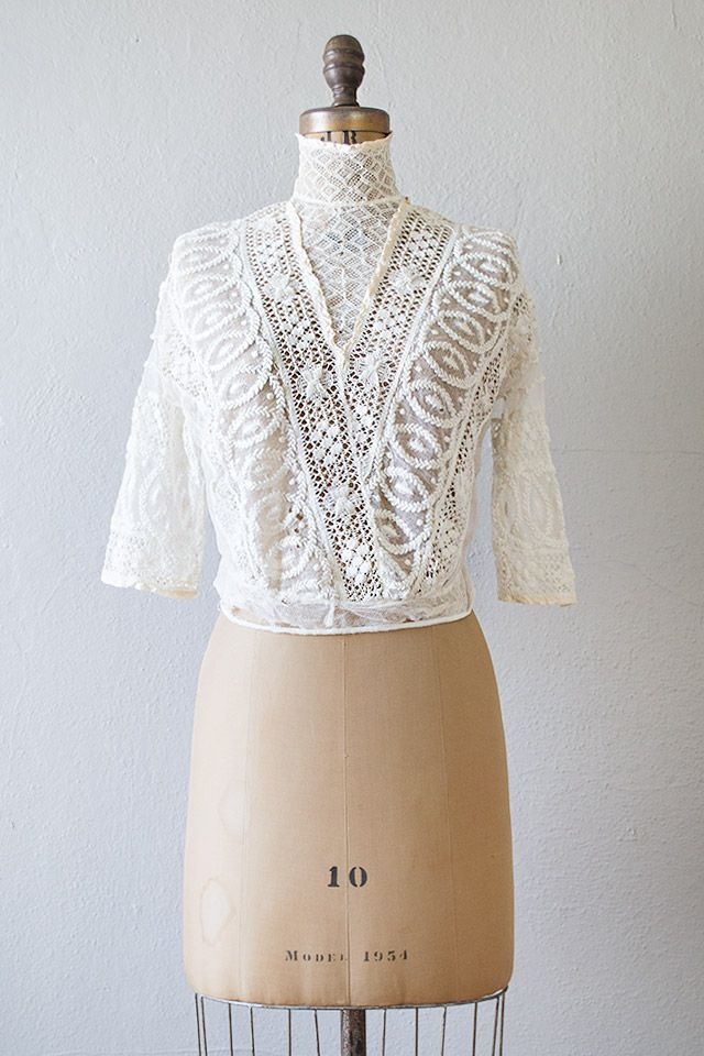 White Lace Blouse Vintage | Fashion Ql