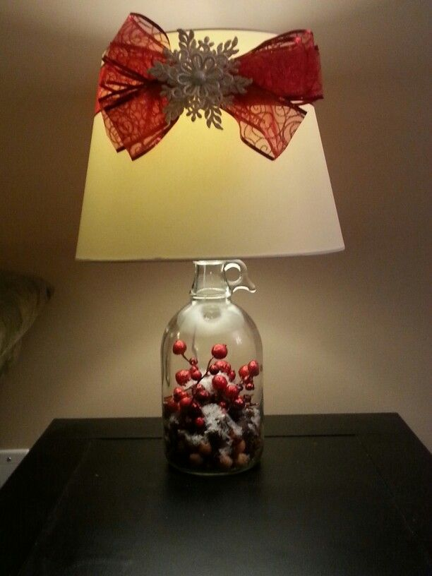 Lamps updated for Christmas