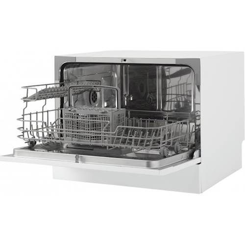 Danby 22 Front Control Countertop Dishwasher With Stainless Steel Tub White Countertop Dishwasher Steel Tub Danby