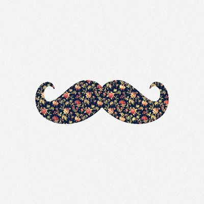 Funny Girly Mustache Pink Vintage Floral Pattern Stretched Canvas Mustache Wallpaper Vintage Floral Pattern Wallpaper Iphone Cute