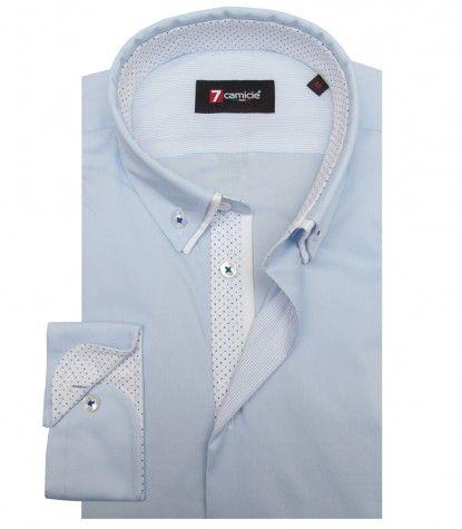 13152e91b1 Camisas Bernini Popelín stetch Celeste