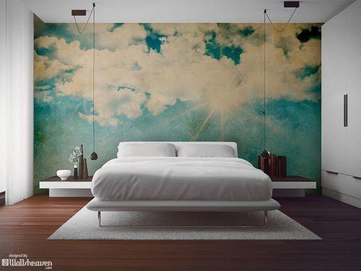 Papeles pintados murales paisaje de nubes papel de - Papel pintado paisaje ...