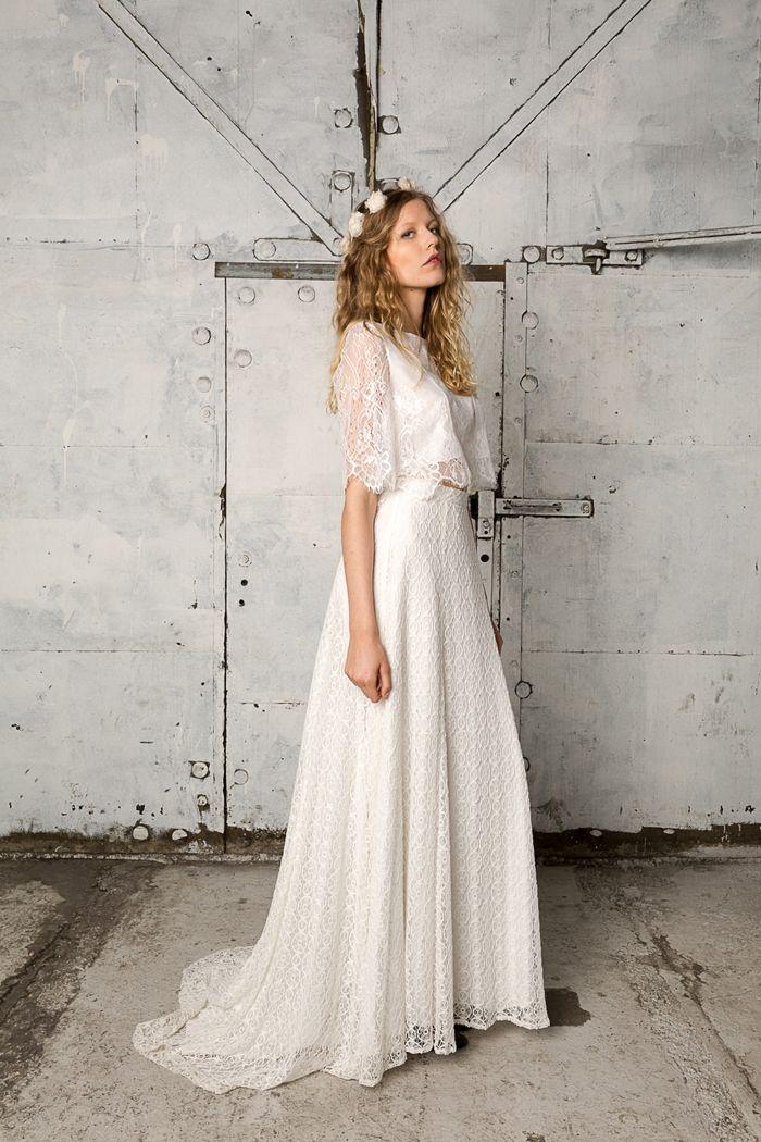 Boho meets urban edgy chic in this stylish wedding dress!   Boho ...