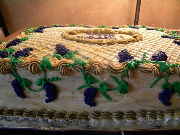 Side View Of Grape Vine Birthday Cake