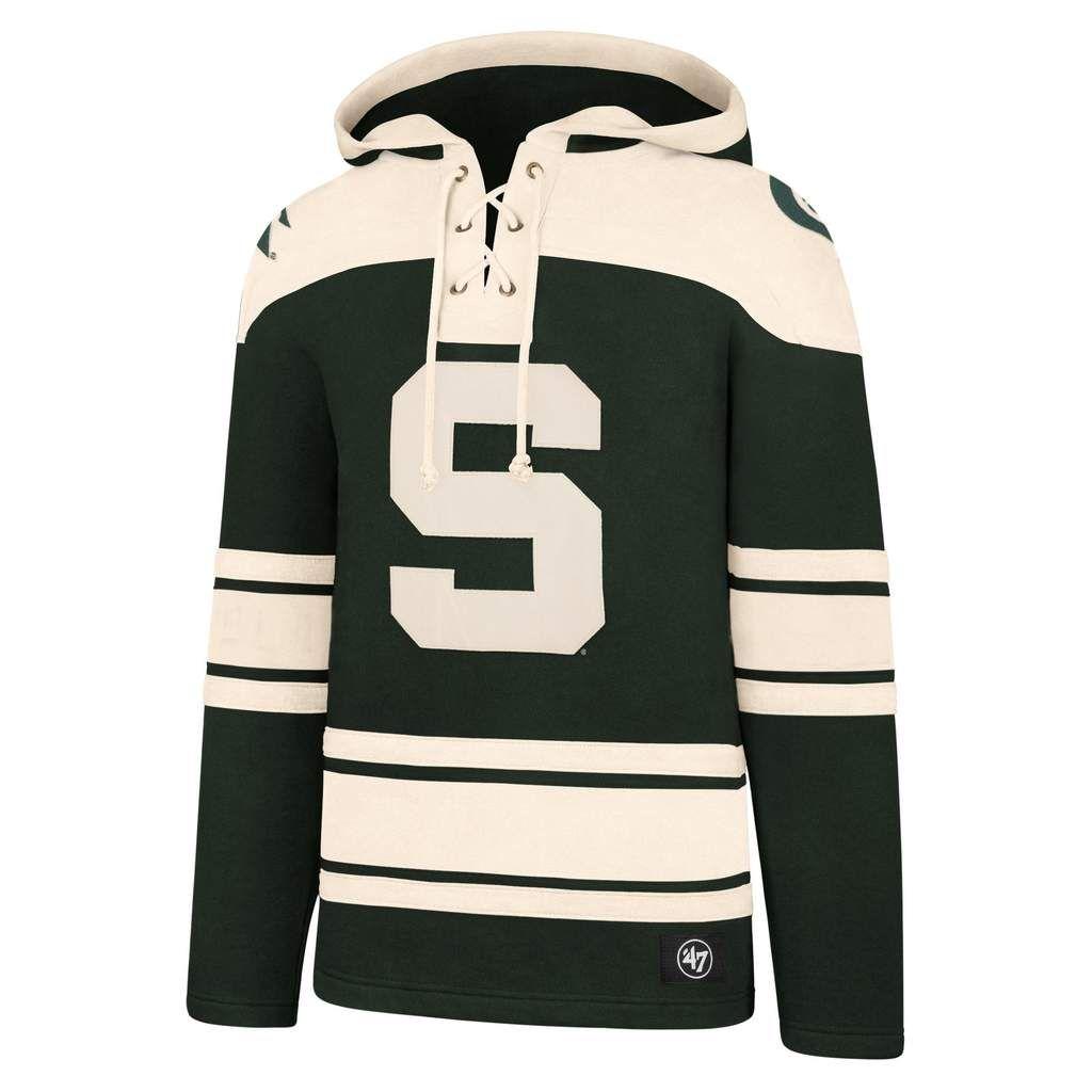 Michigan State Spartans Men S 47 Brand Dark Green Pullover Jersey Hoodie Detroit Game Gear Michigan State Spartans Michigan State 47 Brand [ 1024 x 1024 Pixel ]