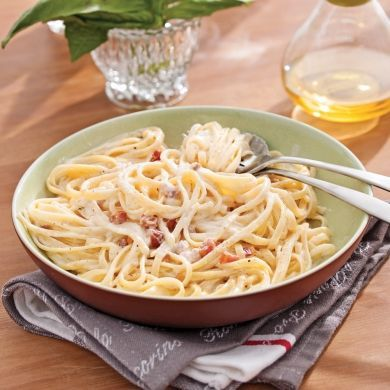 Pâtes «alla carbonara» - Recettes - Cuisine et nutrition - Pratico Pratique