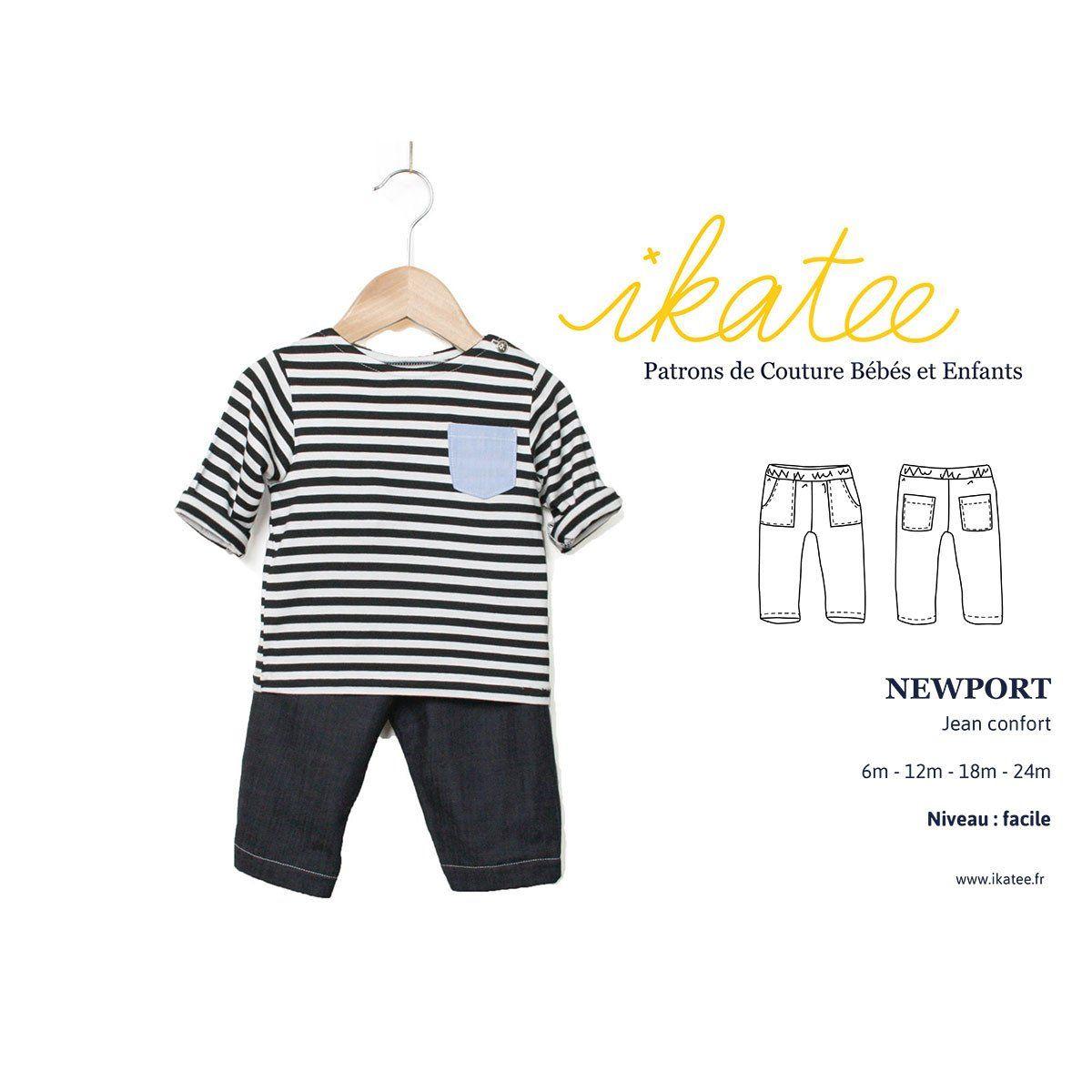 0759c9aba37b8 Patron de Couture PDF à télécharger. Bébé mixte. De 6 à 24 mois Un