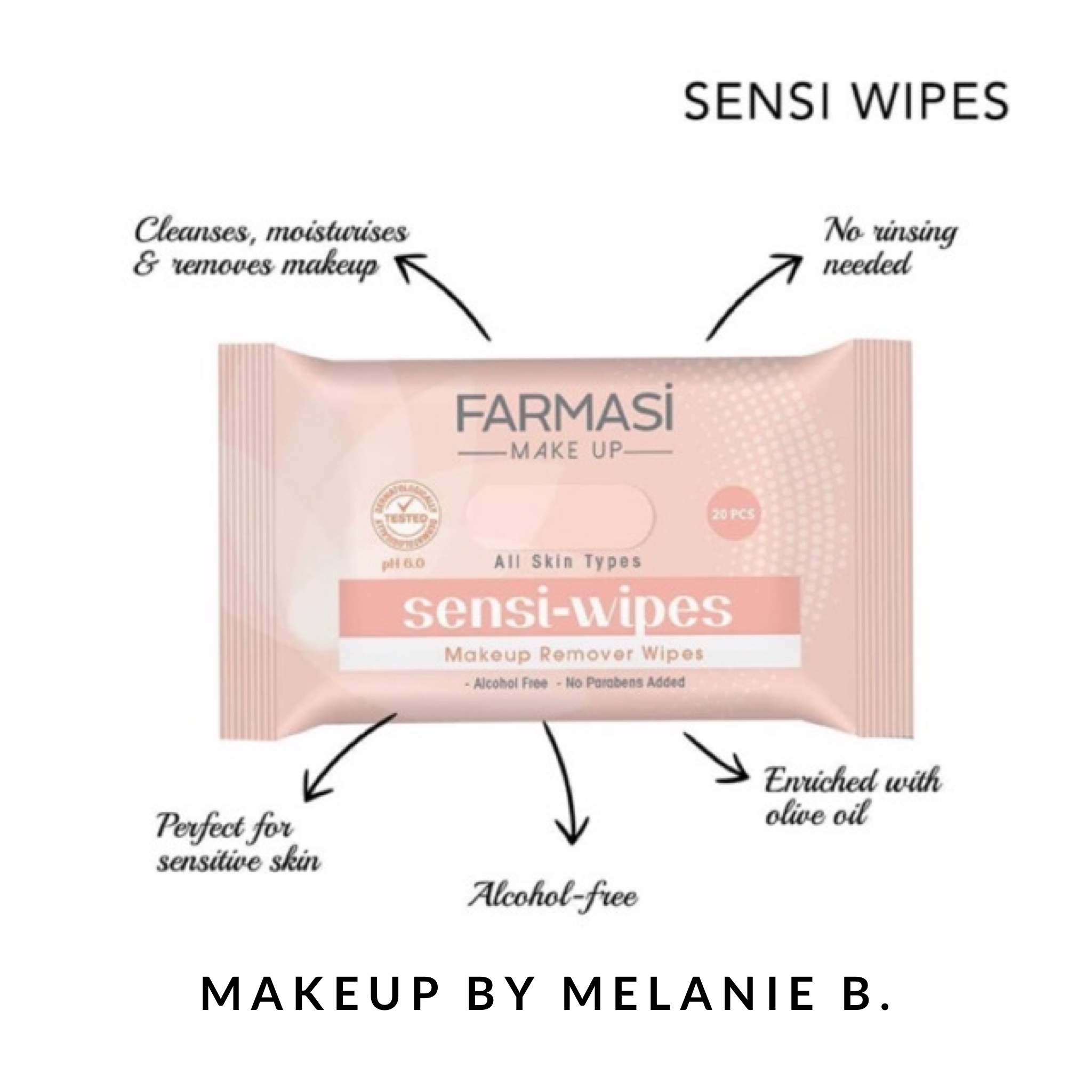 With the Farmasi SensiWipes Makeup Cleaning Wipes, you