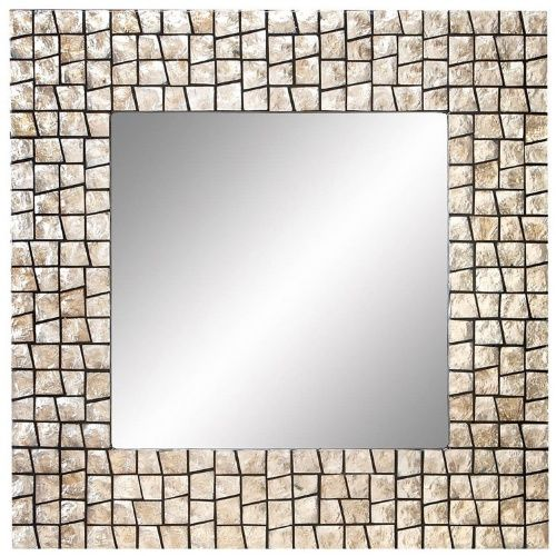 Etonnant Aspire Home Accents Capiz Shell Square Wall Mirror   32W X 32H In.   Wall