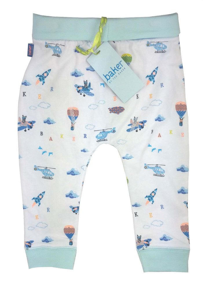 8b18b1b0ac088e Ted Baker Baby Boys Trousers Jersey Bottoms Aiplanes Designer 12-18 Months