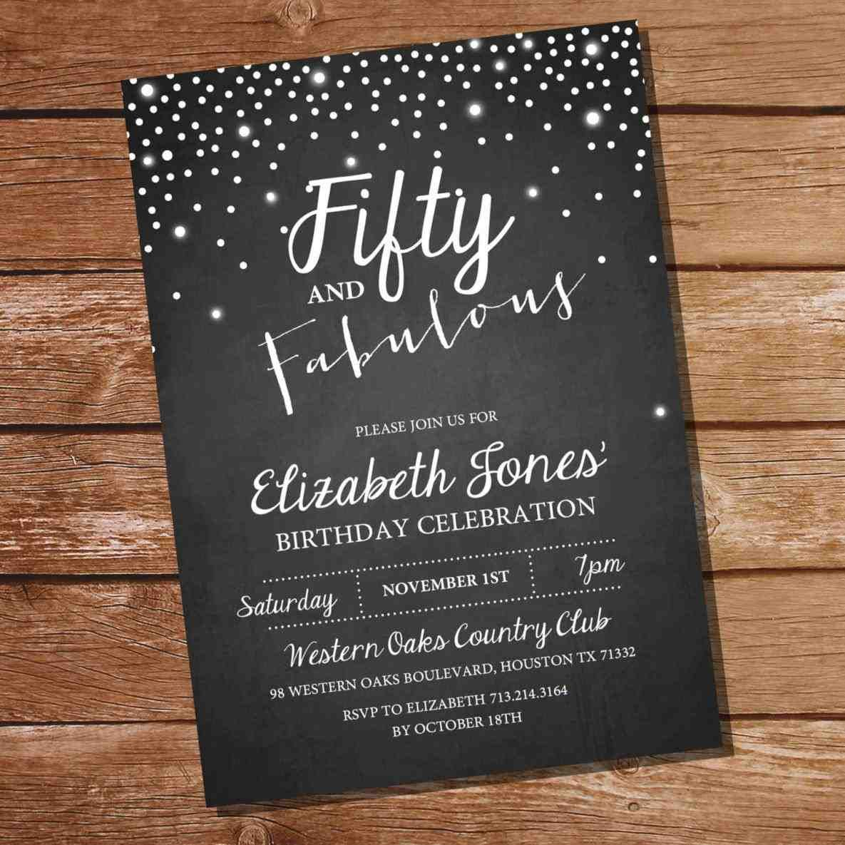 full size of colors:free printable invitations for 50th birthday ...