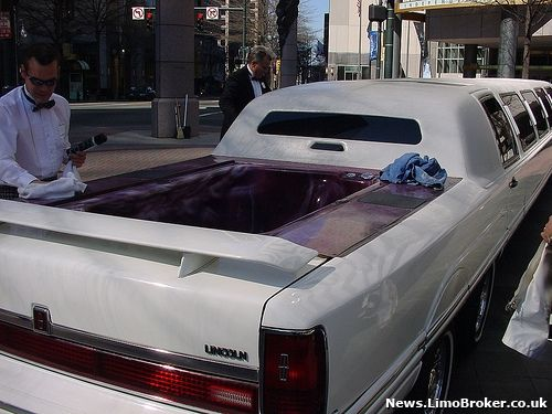 Inside Hummer Limo With Hot Tub I Came Across This Unique Cool Car