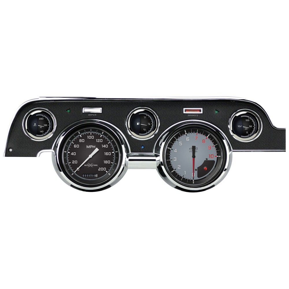 Classic Instruments Gauge Set Auto Cross Series With Scott Drake Instrument Bezel 1967 1968 Ford Mustang Classic 1968 Mustang Mustang