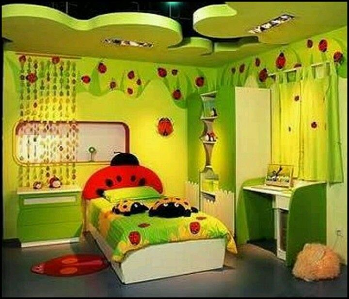 Ladybug Room How Cool Is This Ladybug Bedroom Bedroom Themes Baby Room Inspiration