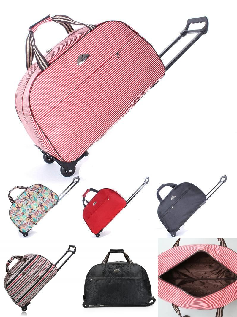 c2be74a16c8f  Visit to Buy  Hand Luggage Trolley Travel Bag Waterproof Oxford Suitcase  Bags On Wheels