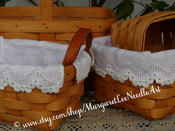 Lacy Basket Liners Pattern INSTANT DOWNLOAD / 4 sizes with