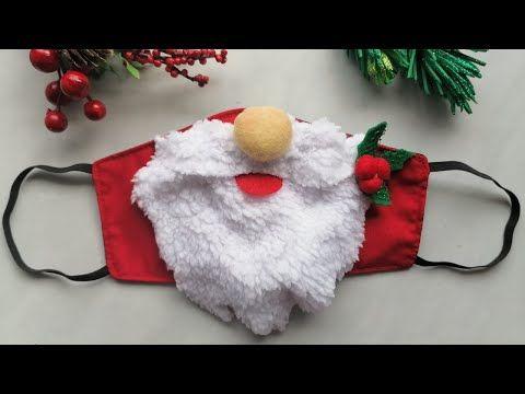 Mascarilla o tapabocas navideño de Santa Claus/ Pa