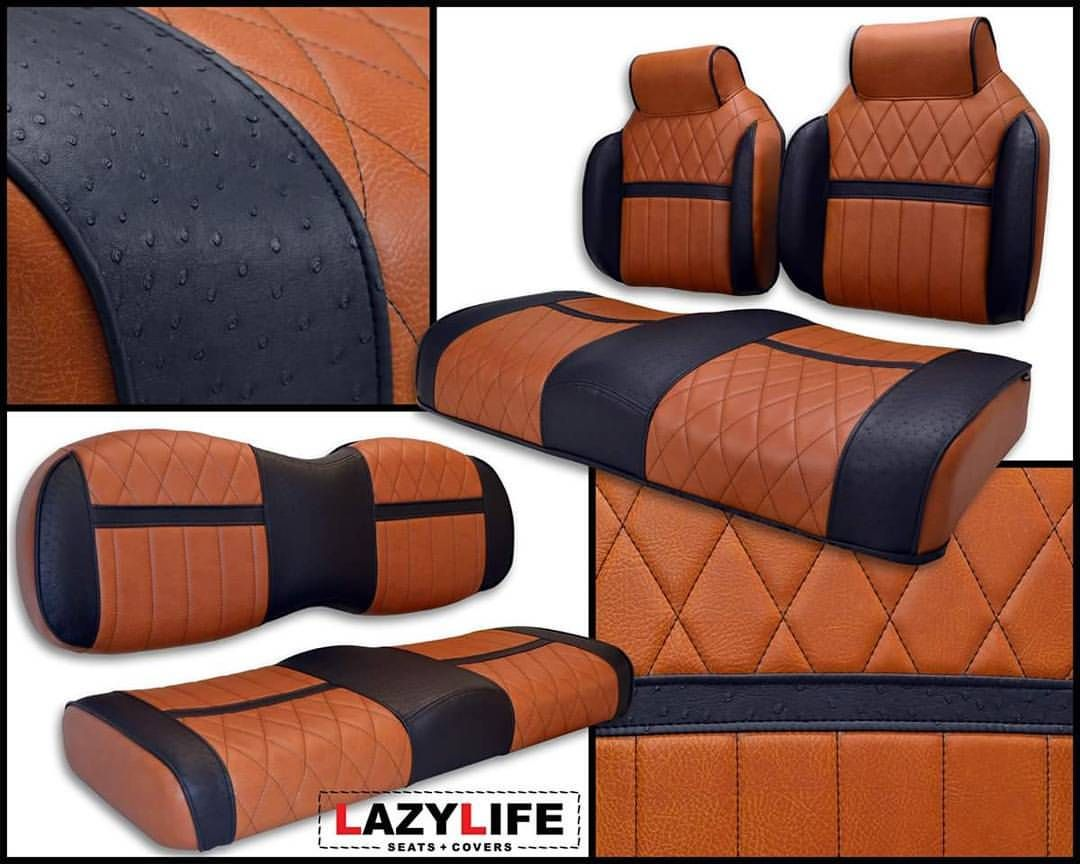 Premium Contour High Back With Built In Headrests And Matching Rear Golf Cart Seats Custom Features Include D Golf Cart Seats Golf Carts Golf Cart Seat Covers