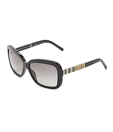 4817be7c807b Burberry Canvas Check Square Sunglasses  Dillards