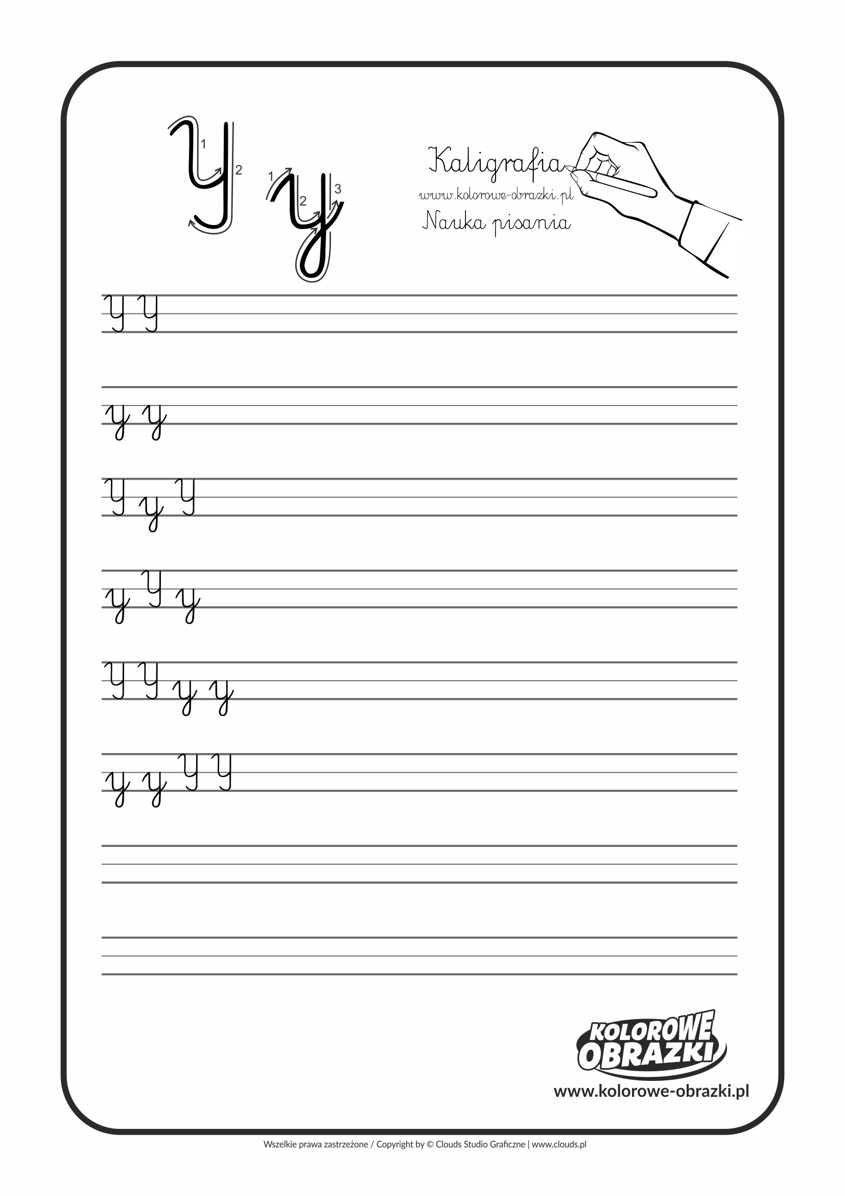 Kaligrafia Dla Dzieci Cwiczenia Kaligraficzne Litera Y Nauka Pisania Litery Y Letters For Kids Calligraphy For Kids Cool Coloring Pages