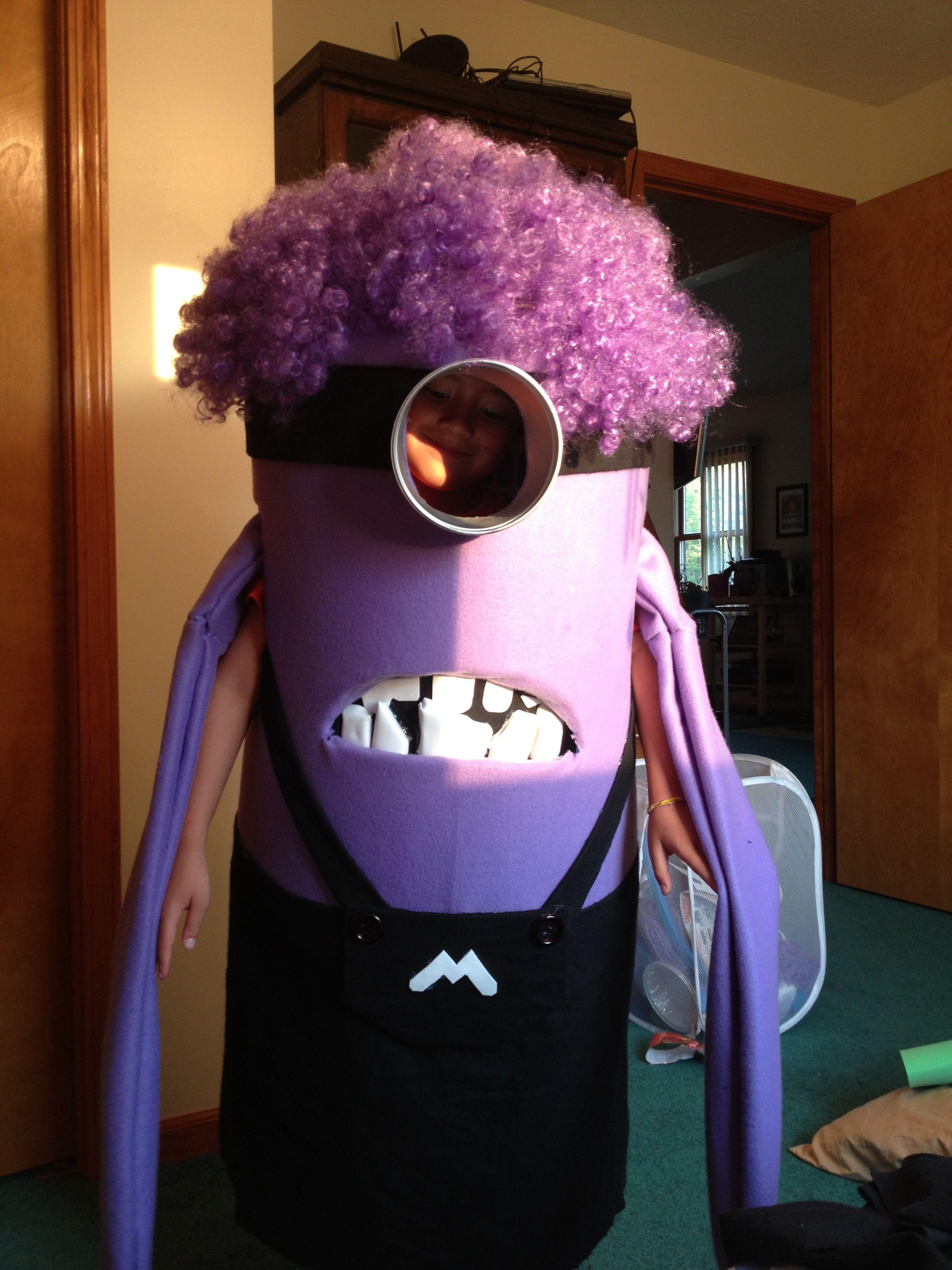 Almost done | Minion costumes, Evil minion costume, Purple ...