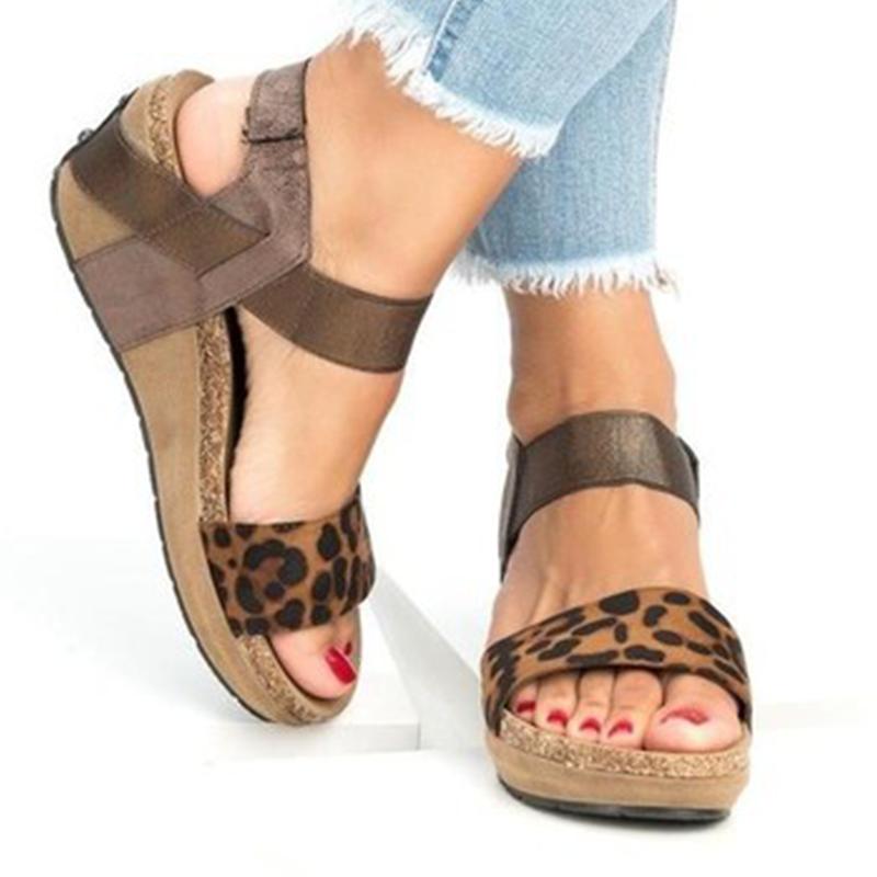 fbfbb0f169e Prettymia Plus Size Cute Print Wedges Platform Sandals
