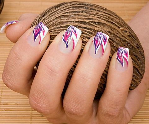 19 creative purple nail art designs pink nails purple nail art 19 creative purple nail art designs prinsesfo Images