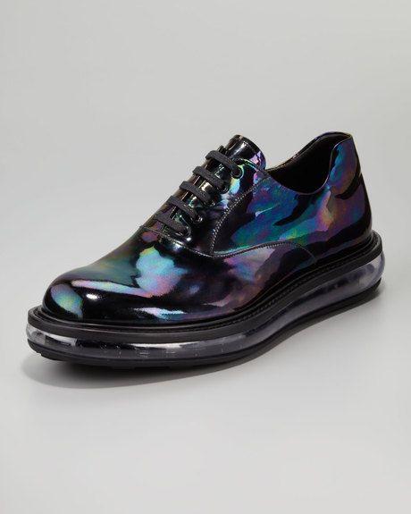 7acb422c Men's Black Oil Slick Iridescent Laceup Shoe | OMG Shoes | Lace up ...