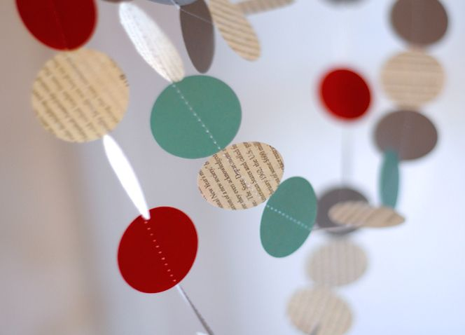 How To Make Modern Paper Holiday Garland (on the Cheap!) Garlands