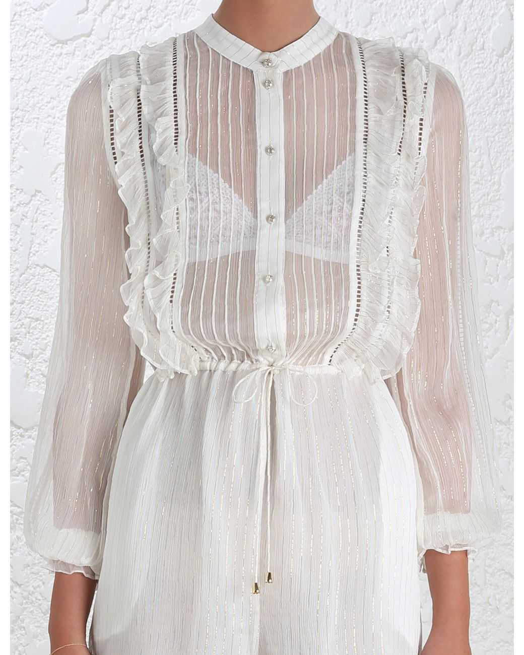 Zimmermann | White Mischief Frill Playsuit | Lyst