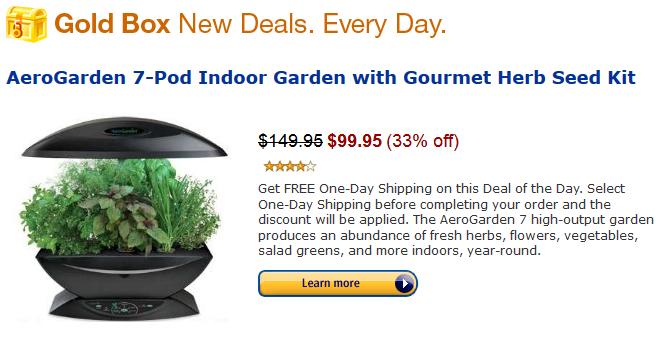 Amazon Com Gold Box Deal Of The Day Aerogarden 7 Pod 400 x 300