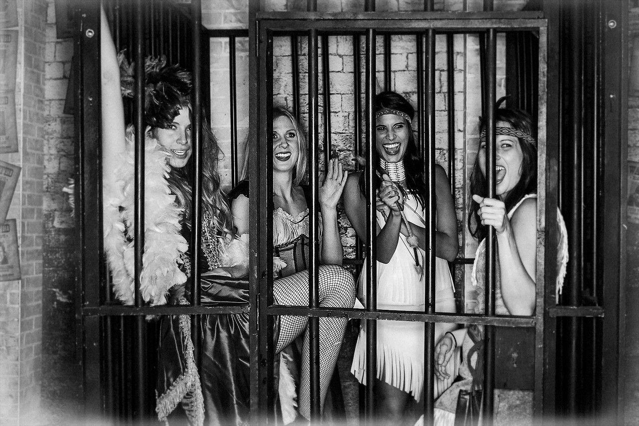 Blackandwhite sociallight photobooth prison girls