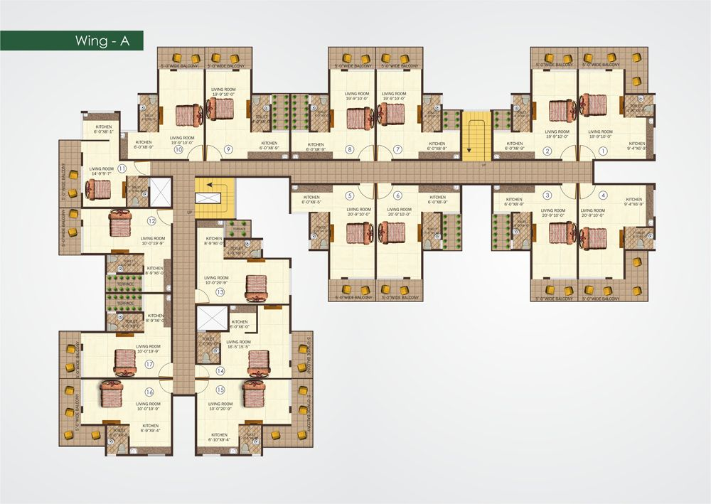 Studio Apt Floor Plan 1000 709 Apartment Floor