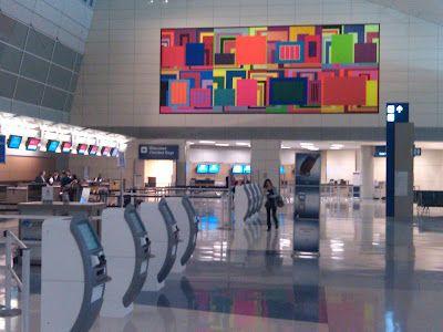 Painting at DFW, Terminal D