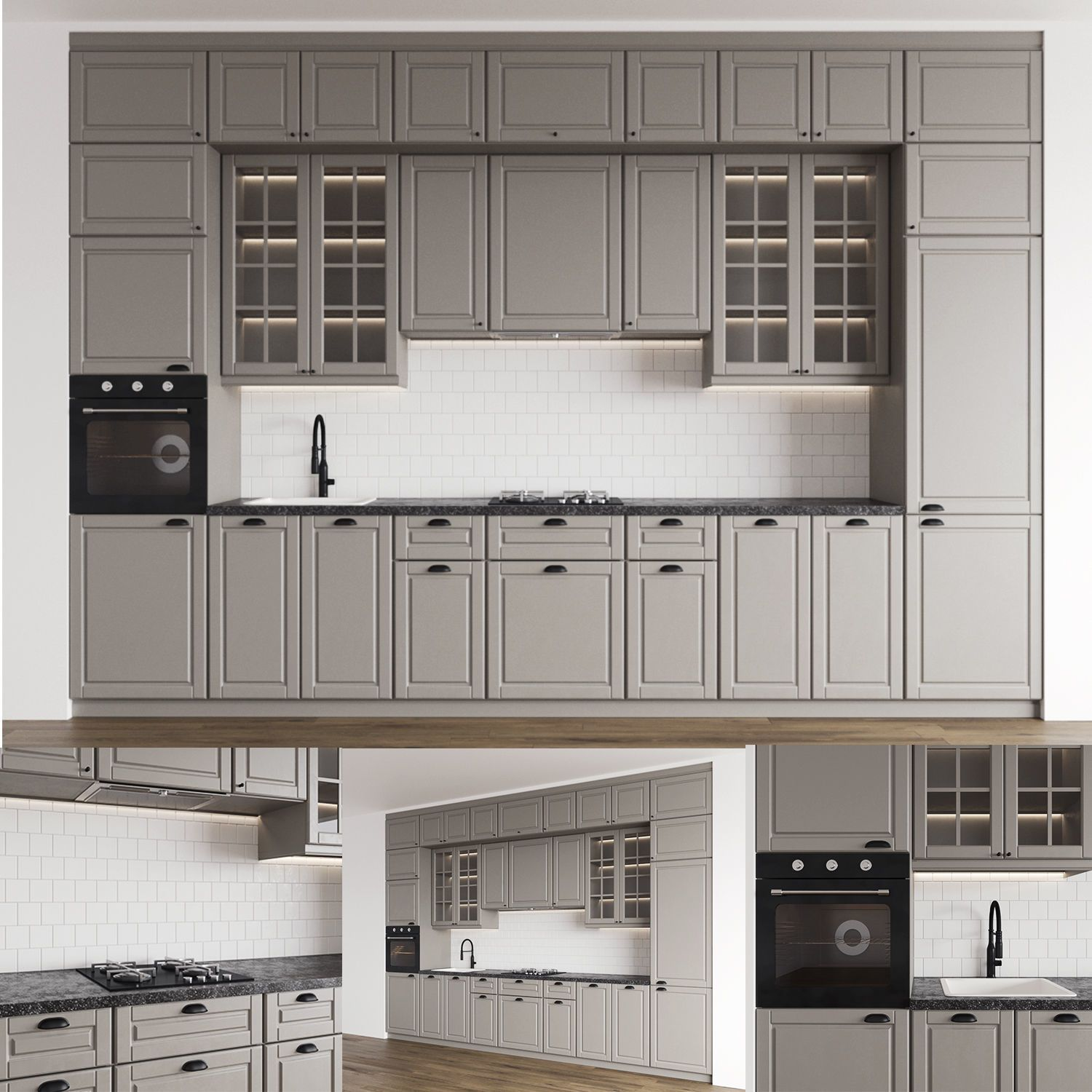 Kitchen 3 3d Model In 2020 Kitchen Models Modern Kitchen Interiors Kitchen Cabinets Models