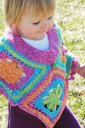 Poncho Children Pinterest Ponchos Free Crochet Poncho