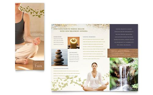 Naturopathic Medicine Brochure Template  Design Layouts