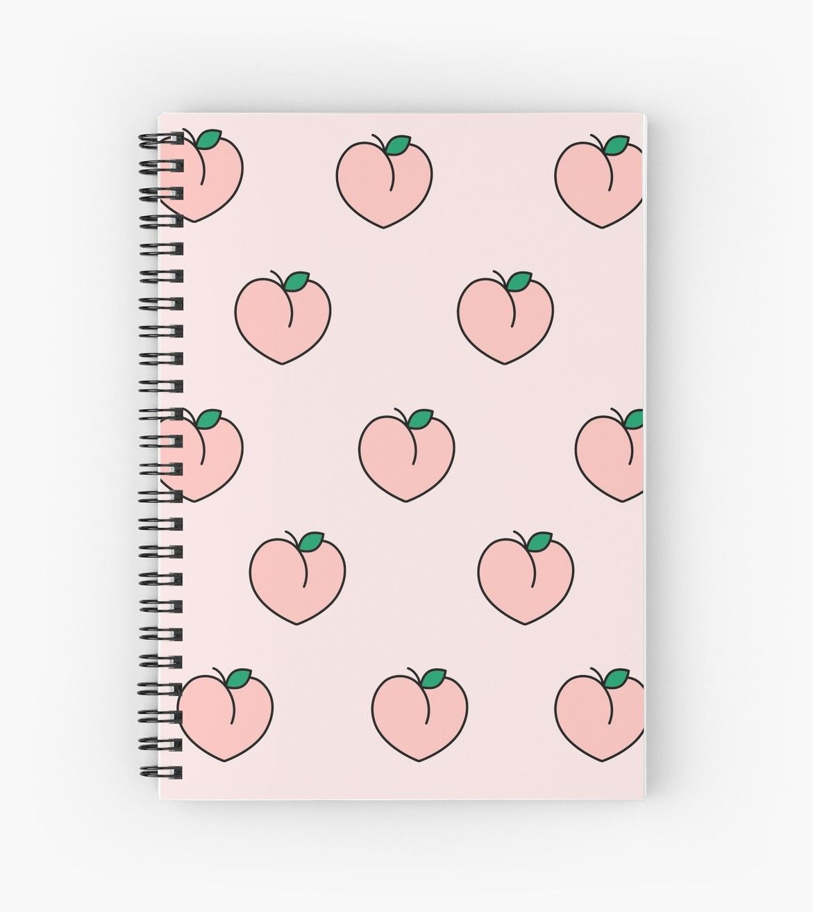 'Aesthetic Pink Peaches ' Spiral Notebook by AngelicSouls ...