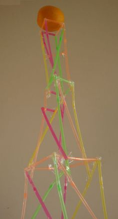 how to build a straw tower without tape