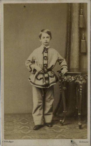 Cdv Smartly Dressed Boy By Rotkjer Of Helsingor Denmark C