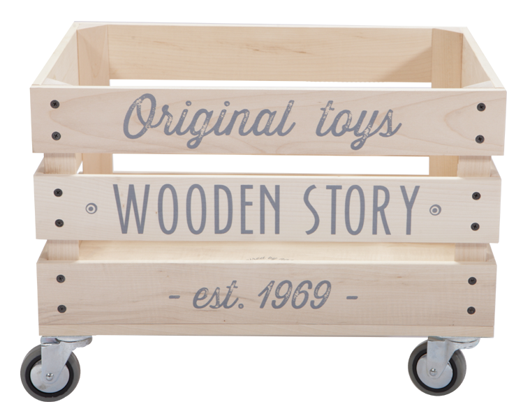 Wooden Story Wooden Storage Crate On Wheels Caisse Bois Palette Jardin Palette Bois